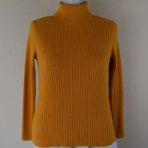 Kim Rogers Size Large Golden Yellow Turtleneck